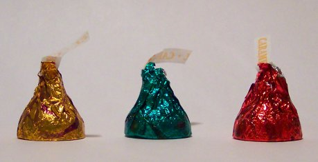 Foil Candy Wrappers can get stuck on teeth