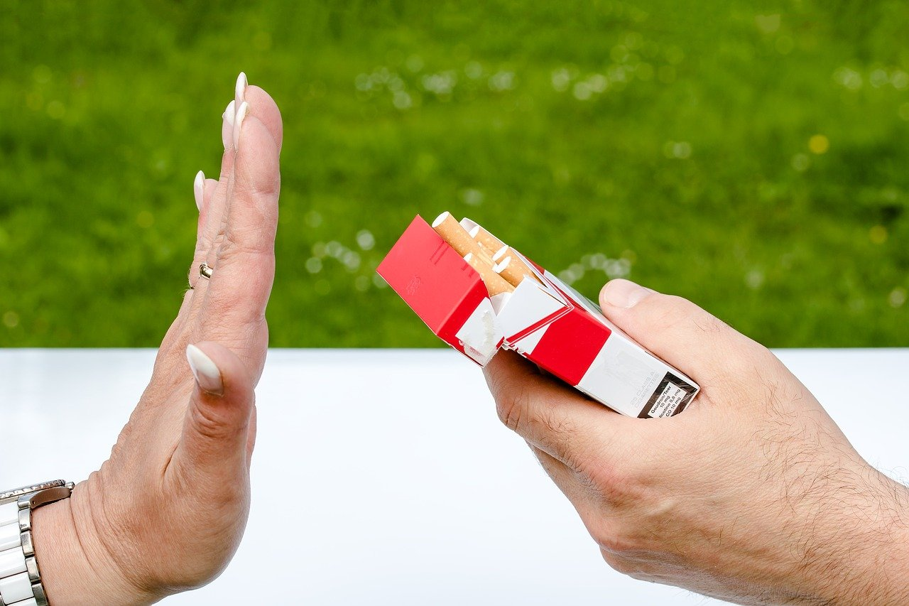 Quitting smoking can help with dry mouth