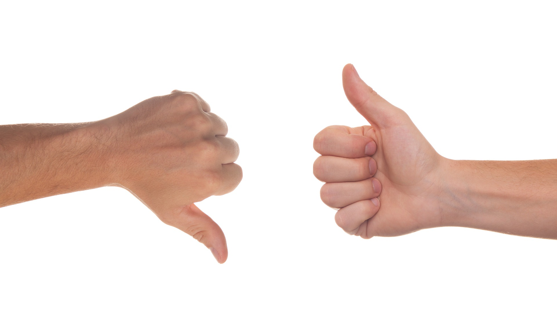 Thumbs up and thumbs down weighing pros and cons of paying with CareCredit